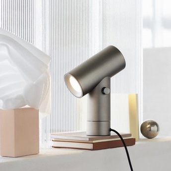 Lampe a poser beam lamp aluminium led 2700k 425lm o18 7cm h26 2cm muuto normal