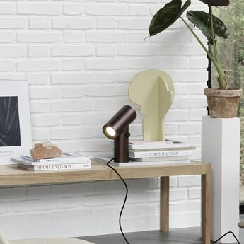 Lampe a poser beam lamp terre d ombre led 2700k 425lm o18 7cm h26 2cm muuto normal