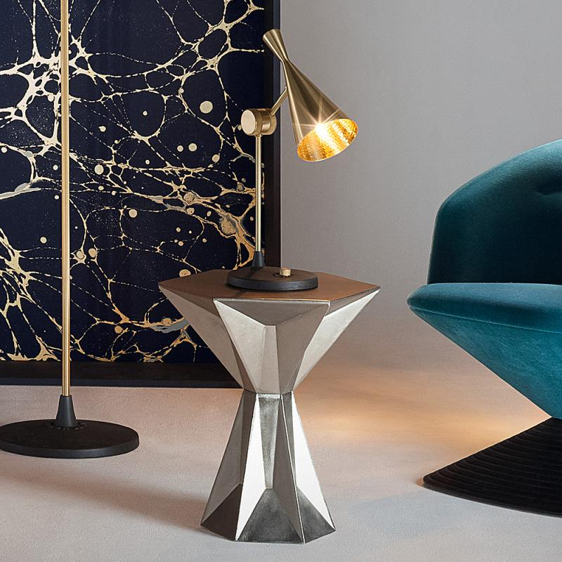 lampe poser beat laiton 18cm h48 3cm tom dixon. Black Bedroom Furniture Sets. Home Design Ideas
