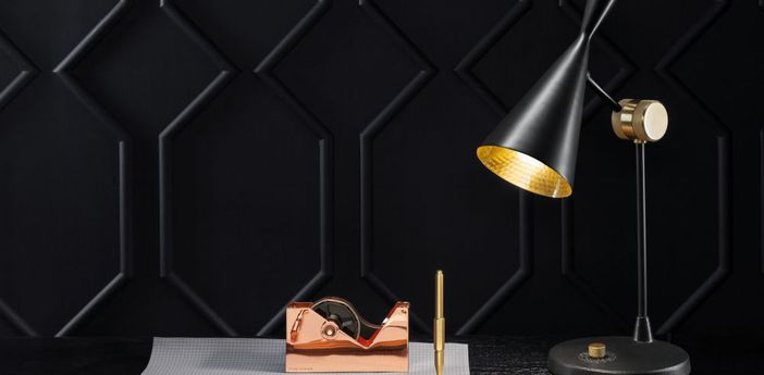 Lampe a poser beat noir o18cm h48 3cm tom dixon normal