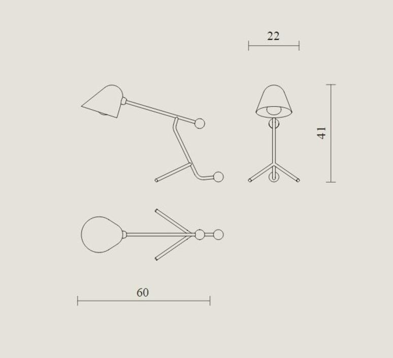 Beghina giulia guido guarnieri lampe a poser table lamp  tato italia tbe300 0924  design signed nedgis 63133 product