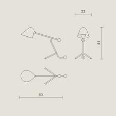 Beghina giulia guido guarnieri lampe a poser table lamp  tato italia tbe300 0126  design signed nedgis 63142 thumb