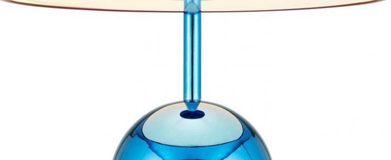Lampe a poser bell large bleu o40cm h60cm tom dixon normal