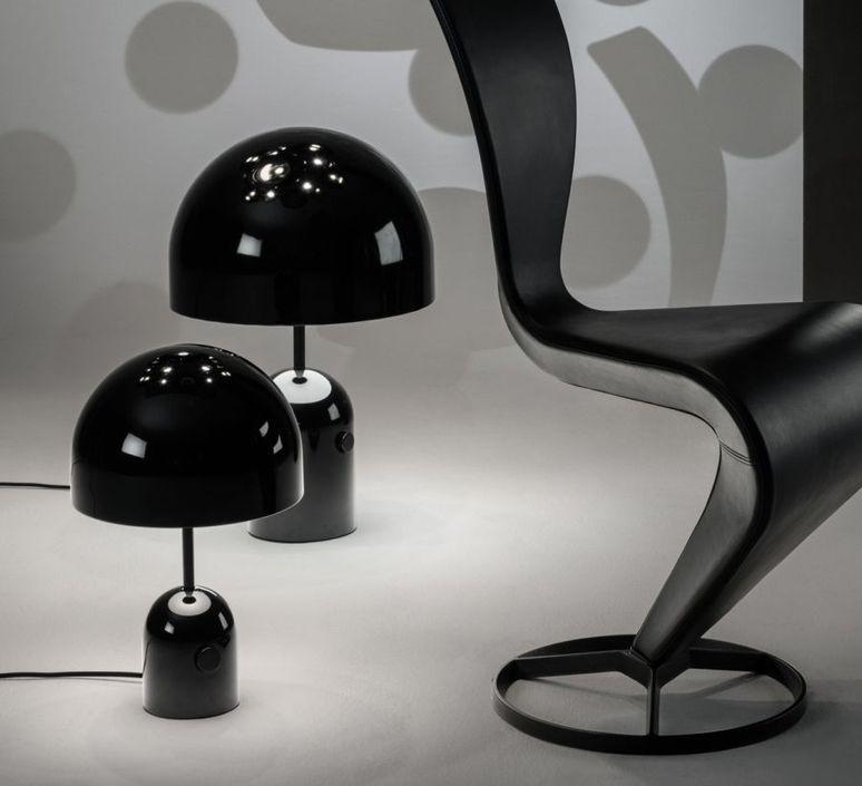 lampe poser bell large noir 40cm h60cm tom dixon. Black Bedroom Furniture Sets. Home Design Ideas