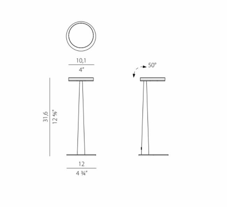 Bella enzo panzeri lampe a poser table lamp  panzeri c05201 011 0509  design signed nedgis 90522 product