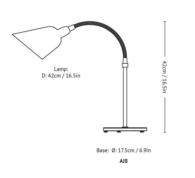 Bellevue aj8 arne jacobsen lampe a poser table lamp  andtradition 20811794  design signed 56565 product