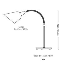 Bellevue aj8 arne jacobsen lampe a poser table lamp  andtradition 20811794  design signed 56565 thumb