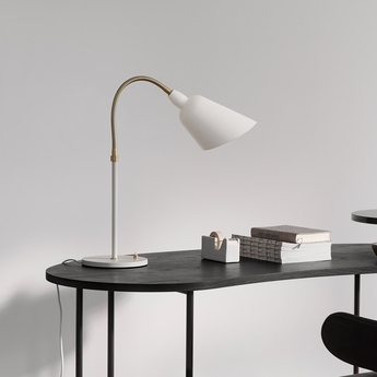 Lampe a poser bellevue blanc laiton h42cm andtradition normal