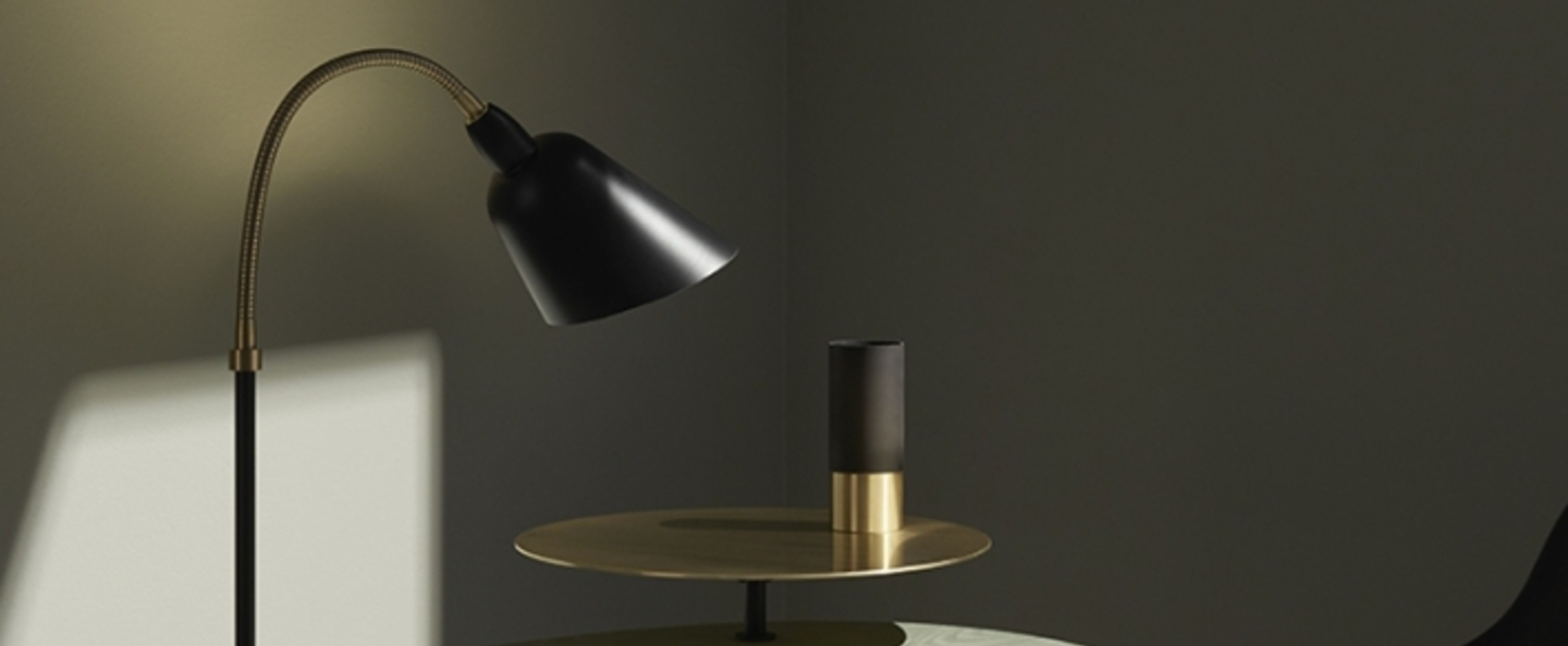 Lampe a poser bellevue noir laiton h42cm andtradition normal