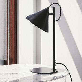 Lampe a poser benjamin noir mat l23cm h47cm frandsen normal