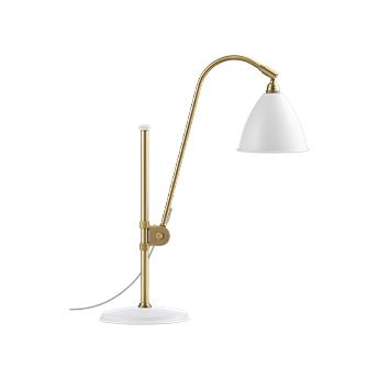 Lampe a poser bestlite bl1 laiton et blanc l20cm h51 84cm gubi normal