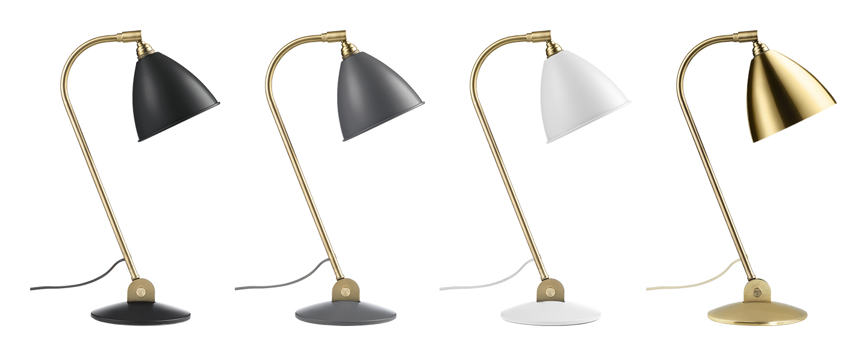 Lampe a poser bestlite bl2 laiton et blanc o20cm h50cm gubi normal