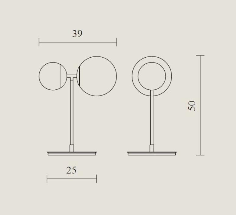 Biba lorenza bozzoli lampe a poser table lamp  tato italia tbi300 1340  design signed nedgis 62941 product