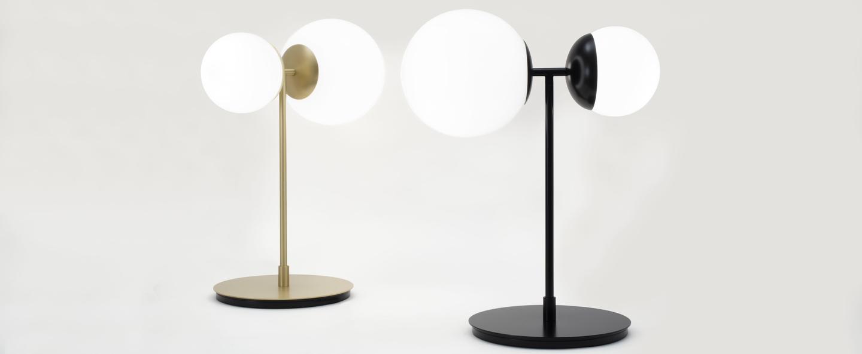 Lampe a poser biba noir mat verre blanc led 2700k 1276lm l39cm h50cm tato italia normal