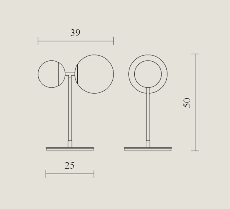 Biba lorenza bozzoli lampe a poser table lamp  tato italia tbi300 3540  design signed nedgis 62932 product