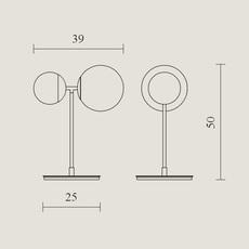 Biba lorenza bozzoli lampe a poser table lamp  tato italia tbi300 3540  design signed nedgis 62932 thumb