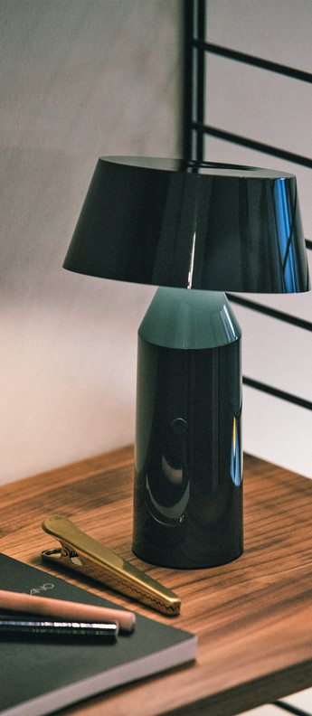 Lampe a poser bicoca led dimmable anthracite h22 5cm marset normal