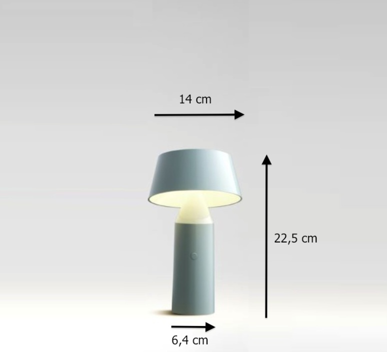 lampe sans fil bicoca led dimmable blanc cass h22 5cm marset luminaires nedgis. Black Bedroom Furniture Sets. Home Design Ideas