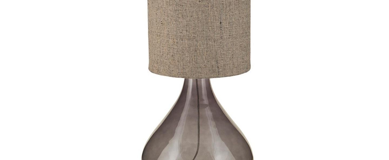 Lampe a poser big gris fonce naturel h119cm o34cm house doctor normal