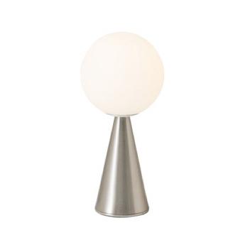 Lampe a poser bilia blanc nickel o12cm h26cm fontana arte normal
