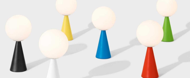 Lampe a poser bilia bleu o12cm h26cm fontana arte normal