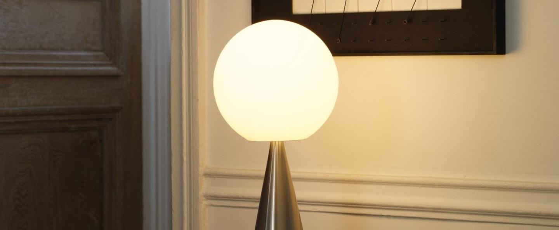 Lampe a poser bilia chrome h43cm fontana arte normal