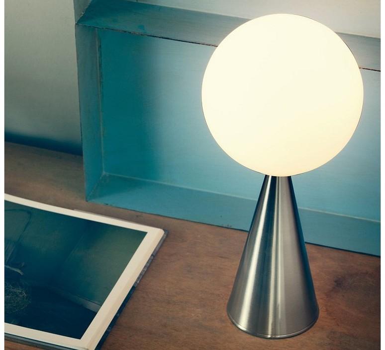 table lamp bilia chrome h43cm fontana arte nedgis lighting. Black Bedroom Furniture Sets. Home Design Ideas