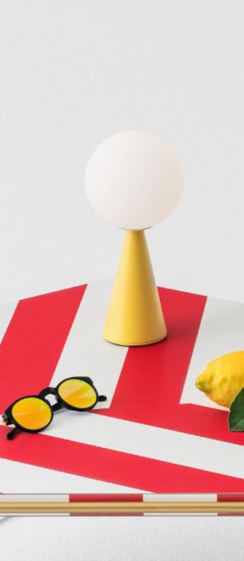 Lampe a poser bilia jaune o12cm h26cm fontana arte normal