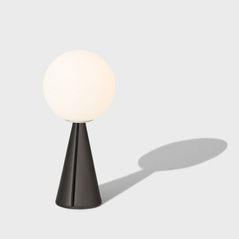 Lampe a poser bilia noir brillant o12cm h26cm fontana arte normal