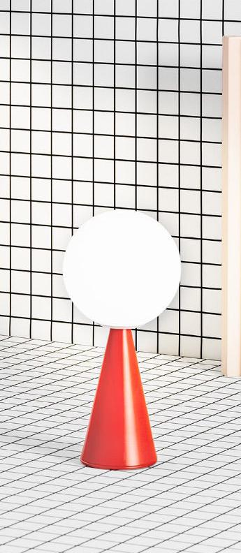 Lampe a poser bilia rouge o12cm h26cm fontana arte normal