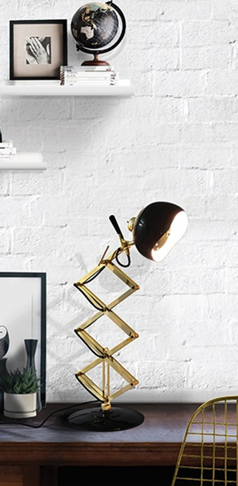 Lampe a poser billy noir et or h60cm delightfull normal