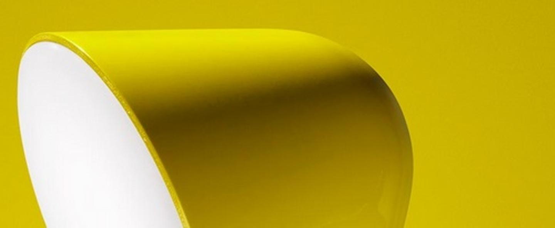 Lampe a poser binic jaune o22cm h24cm foscarini normal