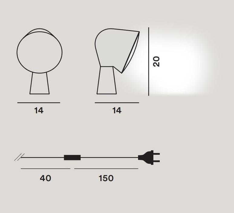Binic ionna vautrin lampe a poser table lamp  foscarini 200001 55  design signed nedgis 91155 product