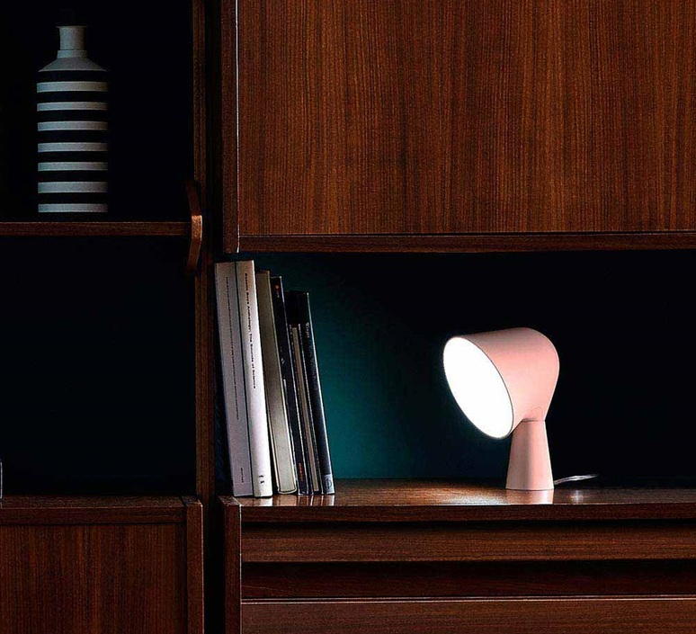 Table Lamp Binic Pink ø22cm H24cm Foscarini Nedgis Lighting