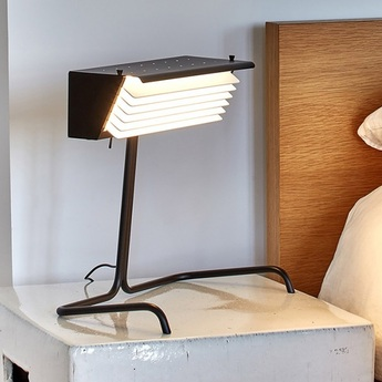 Lampe a poser biny table noir et blanc led 2700k l32 5cm h32 5cm dcw editions normal
