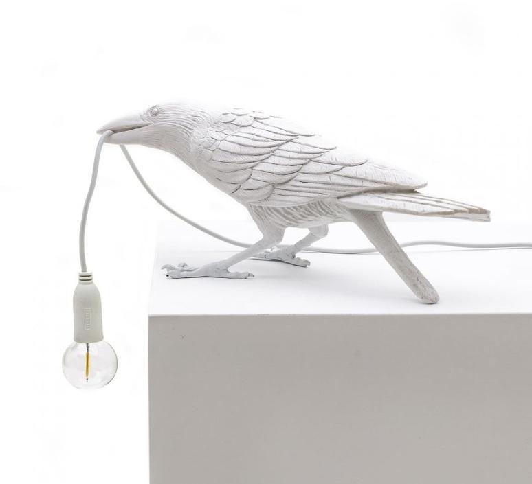 Bird corbeau playing marcantonio raimondi malerba lampe a poser table lamp  seletti 14733  design signed nedgis 97109 product