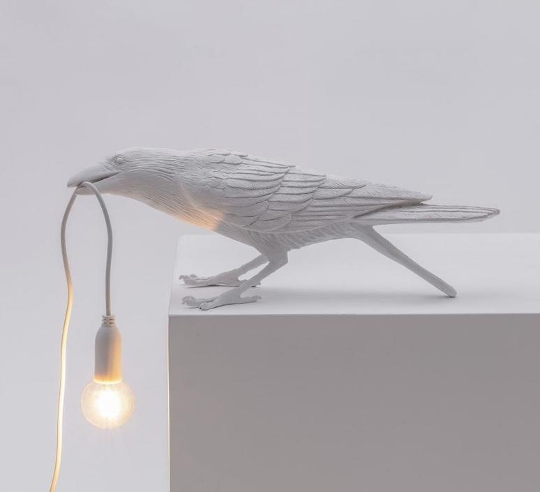 Bird corbeau playing marcantonio raimondi malerba lampe a poser table lamp  seletti 14733  design signed nedgis 97110 product