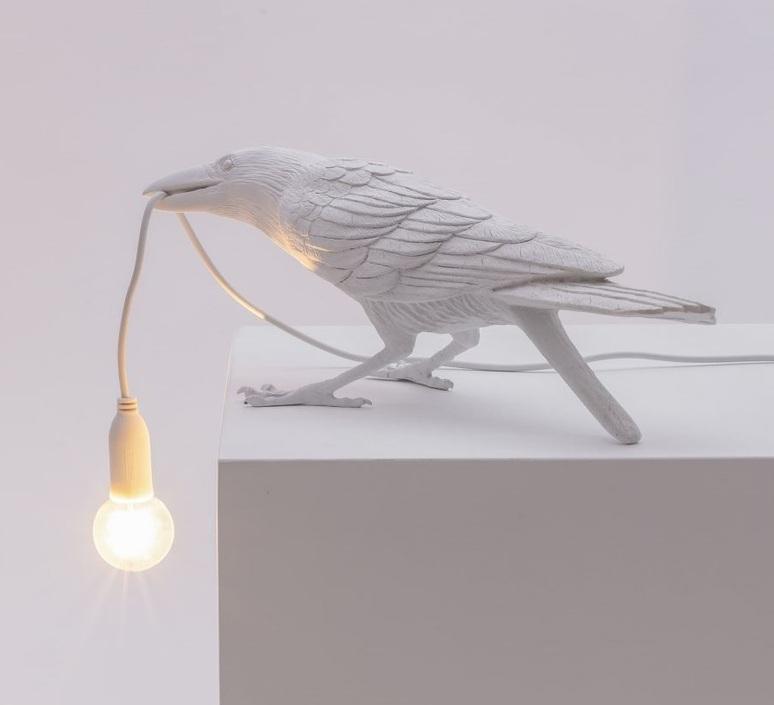 Bird corbeau playing marcantonio raimondi malerba lampe a poser table lamp  seletti 14733  design signed nedgis 97112 product