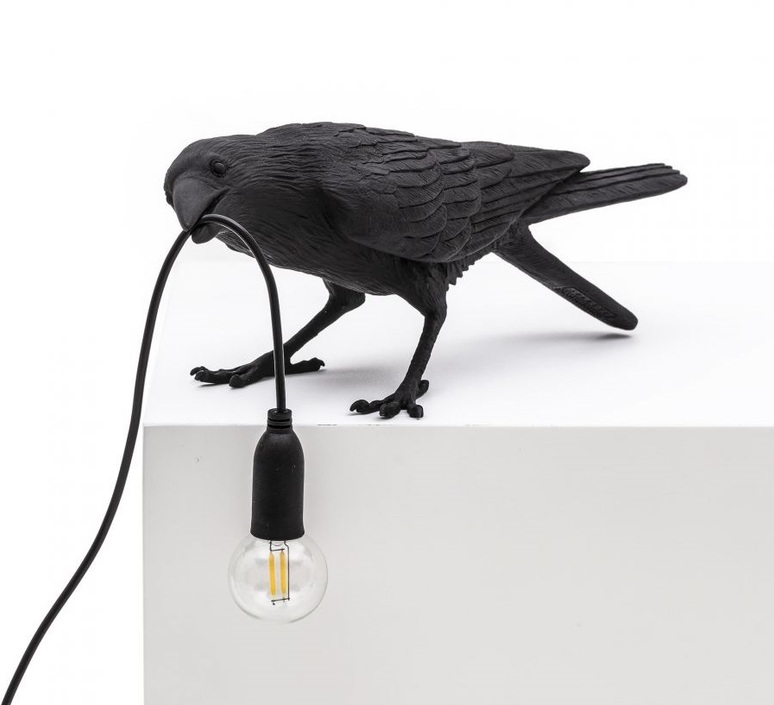 Bird corbeau playing marcantonio raimondi malerba lampe a poser table lamp  seletti 14736  design signed nedgis 97099 product