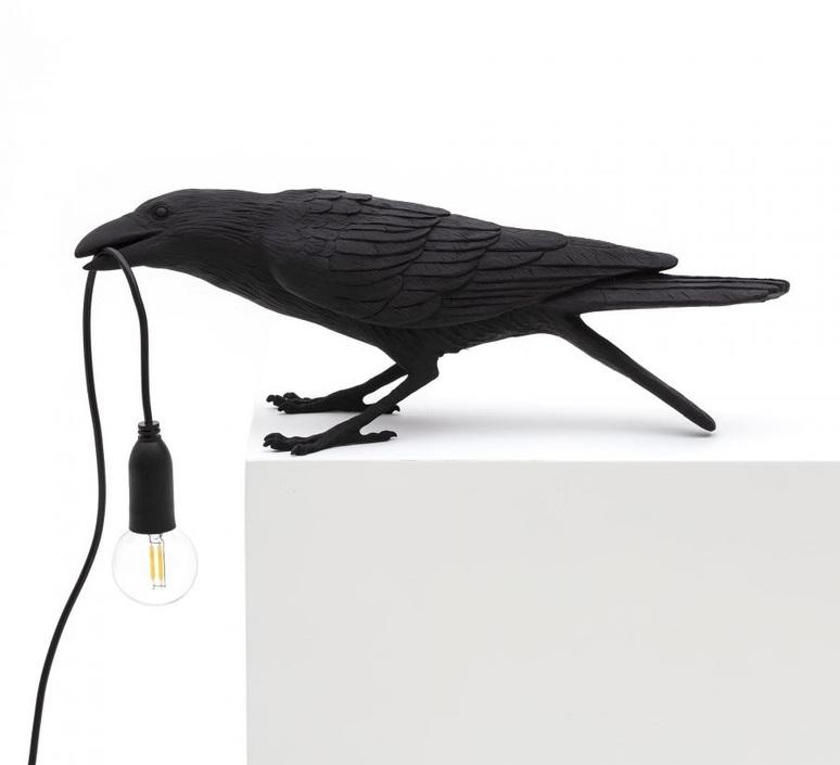 Bird corbeau playing marcantonio raimondi malerba lampe a poser table lamp  seletti 14736  design signed nedgis 97100 product