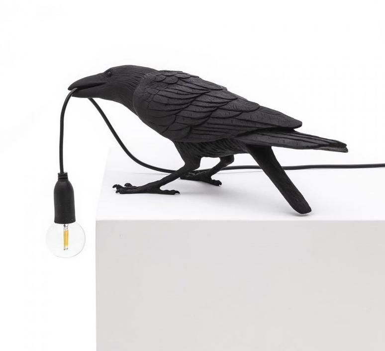 Bird corbeau playing marcantonio raimondi malerba lampe a poser table lamp  seletti 14736  design signed nedgis 97101 product