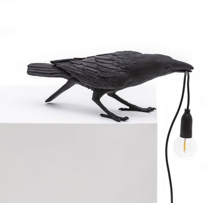 Bird corbeau playing marcantonio raimondi malerba lampe a poser table lamp  seletti 14736  design signed nedgis 97102 product