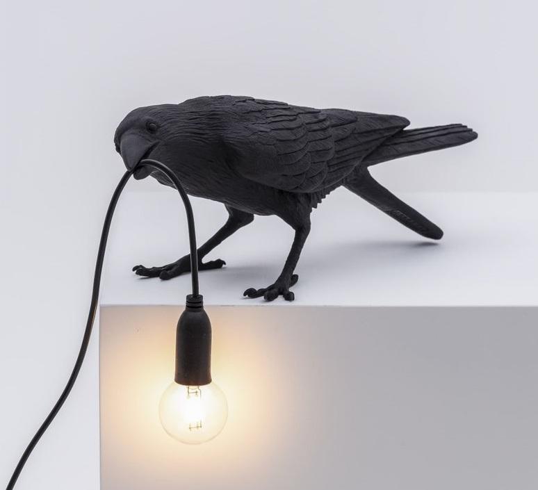 Bird corbeau playing marcantonio raimondi malerba lampe a poser table lamp  seletti 14736  design signed nedgis 97103 product