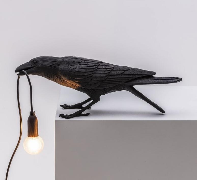 Bird corbeau playing marcantonio raimondi malerba lampe a poser table lamp  seletti 14736  design signed nedgis 97104 product