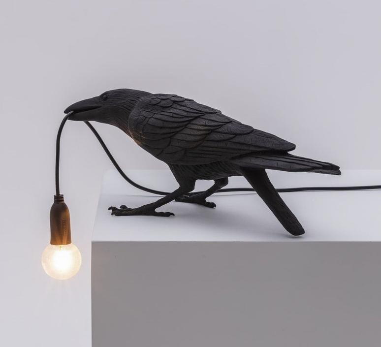 Bird corbeau playing marcantonio raimondi malerba lampe a poser table lamp  seletti 14736  design signed nedgis 97105 product