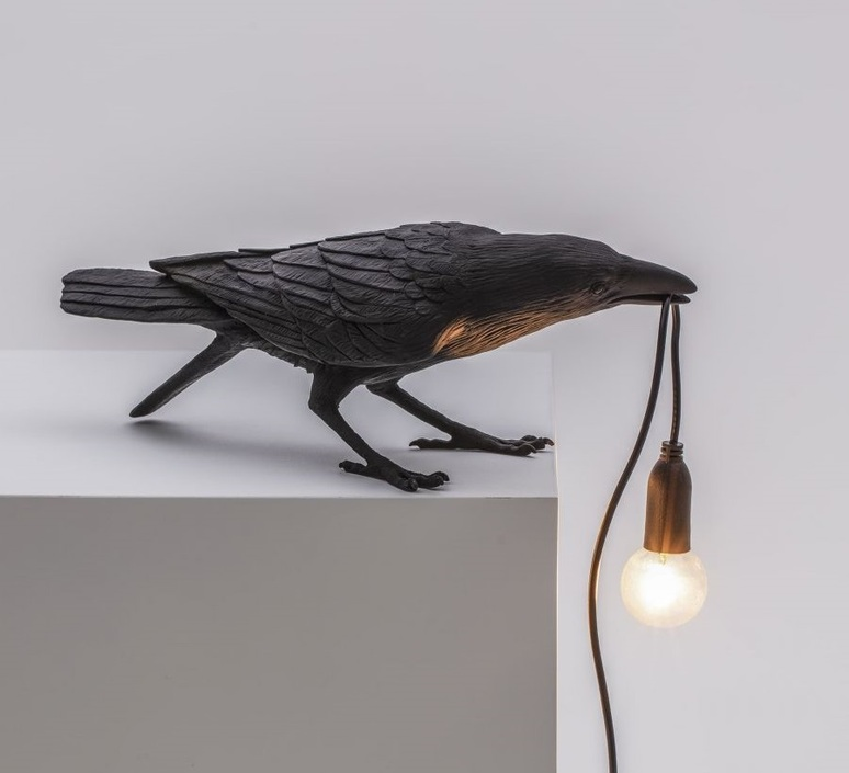 Bird corbeau playing marcantonio raimondi malerba lampe a poser table lamp  seletti 14736  design signed nedgis 97106 product
