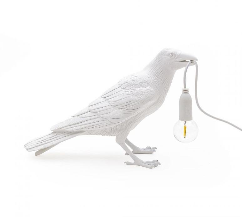 Bird corbeau waiting marcantonio raimondi malerba lampe a poser table lamp  seletti 14732  design signed nedgis 97133 product