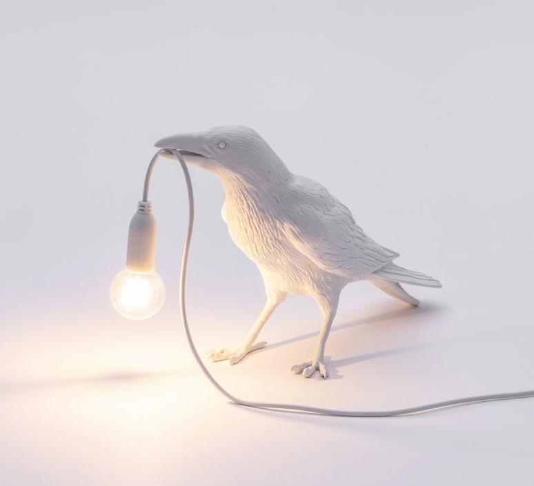 Bird corbeau waiting marcantonio raimondi malerba lampe a poser table lamp  seletti 14732  design signed nedgis 97136 product