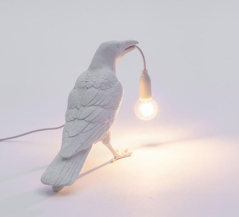 Bird corbeau waiting marcantonio raimondi malerba lampe a poser table lamp  seletti 14732  design signed nedgis 97139 product