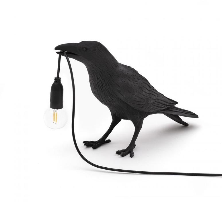Bird corbeau waiting marcantonio raimondi malerba lampe a poser table lamp  seletti 14735  design signed nedgis 97117 product